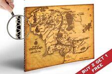 La carte de la terre du milieu seigneur des anneaux Poster 30x21cm Maison Décoration Art Print