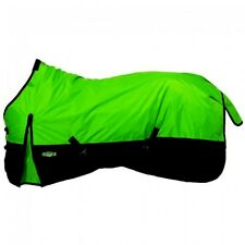 "Tough-1 75"" Neon Green 600D 250gm Fill Waterproof Turnout Blanket Horse Tack"