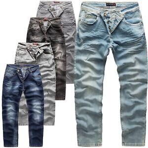 Herren Jeans Hose Rock Creek Designer Stretch Jeanshose Regular Slim Basic M19