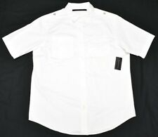 Sean John Button Down Shirt Men's Sz M White Pocket Woven Urban Streetwear N812