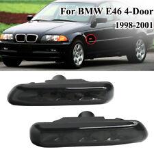 2pcs SMOKE LENS LED SIDE MARKER LIGHT fit for BMW E46 4DR 99-01 2DR COUPE 99-03