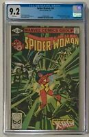 Spider-Woman #38 CGC 9.2 NM- WP X-Men Appearance - Marvel Comics 1981 Claremont