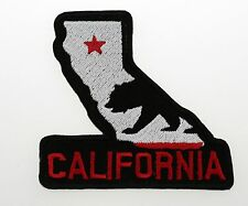 California flag and State biker EMBROIDERED PATCH