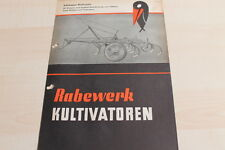 144600) rabewerk remolcador-cultivadora Raku folleto 10/1956