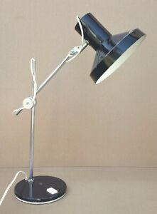 Ancienne lampe de bureau ARTICULEE vintage MARRON architecte industrielle déco