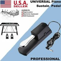 Universal Piano-style Sustain Foot Pedal For YAMAHA CASIO w/ Polarity Switch US
