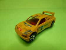 MAJORETTE 202 PEUGEOT 405 T16 - RACING SERVICE  YELLOW 1:60 - GOOD CONDITION