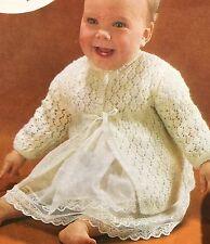 FB30 - Knitting Pattern - Beautiful 4-ply Baby's Matinee Coat / Jacket - Babies