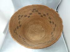 "Native American Weave Basket Bowl Nice Design. Approx 13"" W x 6"" T. Brown Bowl"