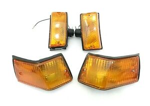 VESPA FRONT & REAR INDICATOR SET OF 4 FITTED WITH BULBS PX  LML STAR STELLA