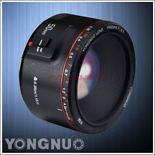 Yongnuo YN50MM F1.8 II AF MF Prime Lens for Canon 7D II 7D 6D 5D 80D 70D 60D 1D