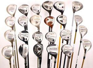 Lot of 24 Various Golf Club Woods Titleist Callaway TaylorMade Mizuno RH & LH