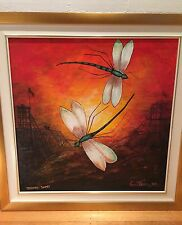 HOWARD STEER DRAGON FLY LARGE ARTWORK STUNNING COLOURS HIGHLY COLLECTABLE ART