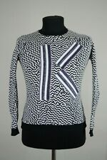 Women's KENZO Sweatshirt Big Logo K White Black Size M