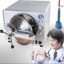 Dental 18L Steam pressure Sterilizer Sterilizition 304 Stainless Steel Tool+Gift