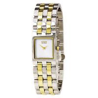 Citizen Eco-Drive Women's Jolie Rectangle Case Two-Tone 18mm Watch EX1304-51A