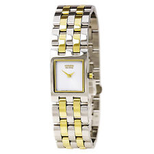 Citizen Eco-Drive Ladies EX1304-51A Jolie Rectangle Case Two Tone Watch