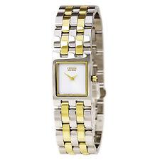 Citizen Eco-Drive Ladies EX1304-51A Jolie Rectangle Case Two Tone Watch