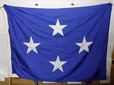 flag812 Us Navy 4 Star Full Admiral flag 59 x 44 rope snap ring