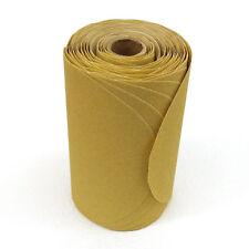 "Premium Gold 6"" PSA Sanding Discs Roll 100 Grit NEW 100 Discs Per Roll"