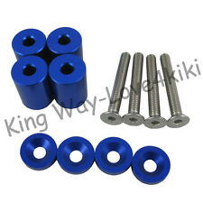 "NEW BLUE 1"" RACING HOOD VENT SPACER RISER KITS FOR TURBO/ENGINE/MOTOR SWAP 6MM"
