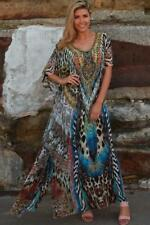 Boho FULL LENGTH Long Maxi KAFTAN Dress BEAD EMBELLISHED Plus Size 18.20.22.24