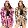Womens Jackets Punk Metal Hooded Loose Coats Hip-Hop Hoodie Jacket Oversized Top