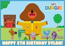 HEY DUGGEE EDIBLE IMAGE CAKE TOPPER BIRTHDAY PARTY KIDS