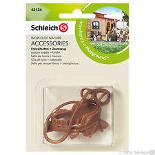 NEW SCHLEICH 42124 Accessories - Equestrian Horse Brown Leisure Saddle & Bridle