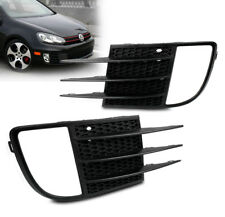 2010 2011 2012 VOLKSWAGEN VW MK6 GTI BUMPER DRIVING FOG LIGHT COVERS BLACK PAIR