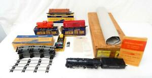 BOXED 1948 American Flyer 4801A Atlantic Freight Set Reading 302AC Complete Clea