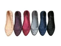 Fashion Women Flats Loafers Casual Sandal Shoes Plastic Hollow Out Jelly Shoes