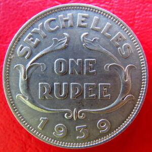 Seychelles One Rupee Coin 1939 George VI