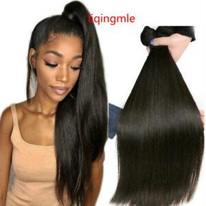 "1/3/4Bundles 8""-30"" Straight Human Hair Extensions Brazilian Human Hair Weft"