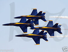 Airplane Poster/Military Fighter Jets/ Blue Angels/17x22/Stunt/Precision Flying