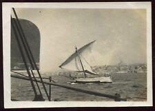 photo ancienne Marseille . 1918 . bateau voilier . Pointu