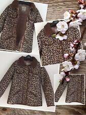 Next Girls Fashion Leopard Jacket Coat Aged 7-8 Years