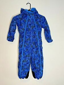 REI Snowsuit Blue 4T Tots Toddler Kids Winter Skiing Hood Insulated Pockets Snow
