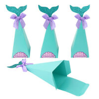 20Pcs Mermaid Favor Box Birtay Party Decorations Diy Paper Box Baby Shower P7T6