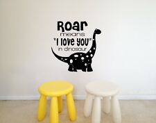 Childrens Wall Sticker Home Decal Decor Of Baby Dinosaur And Quote
