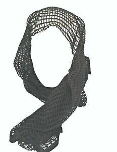 x2 Scrim Scarf Mesh 1x1.3m Sniper Veil Net Headover Ghillie 100% Cotton Black