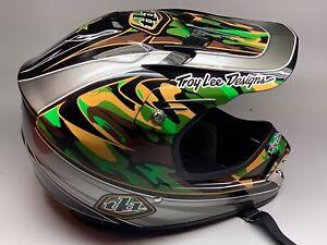 NOS TLD Troy Lee Designs 05' SE Helmet WARDY Green CAMO OM FLYER 26 BMX Cruiser