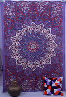 Indian Purple Star Hippie Psychedelic Wall Hanging Mandala Tapestry Throw Ethnic