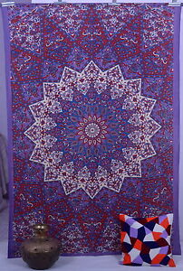 Indian Star Hippie Psychedelic Wall Hanging Purple Mandala Tapestry Throw Ethnic