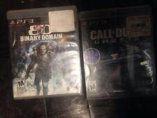 Lot 2 , Call Of Duty Ghost & BINARY Domain (Sony PlayStation 3 Nice