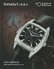 SOTHEBY'S HK WATCHES JEWELRY JADEITE Panerai Patek Rolex Tiffany Catalog 2013