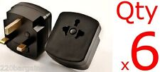 Plug Adapter 6PK - US EU To UK Ireland UAE 3 Prong Plug Adaptor Type D