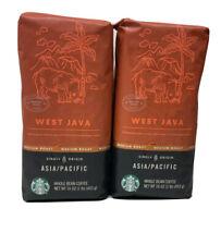 2x Starbucks West Java Whole Bean Coffee 2lb fast Shipping!