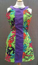 Groovy 60's Psychedelic Fancy Dress Scooby Doo Sz Sm UK 6-8 Unique New Years Eve