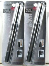 2 Count Physicians Formula Feather Brow 6894 Black Brown Fiber & Highlighter Duo